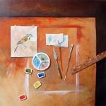 Studio Still Life with Bird Study lV